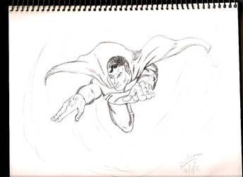 Superman flight by Leon-Evelake