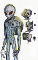 Grey Aliens Concept Art by Lighttwister