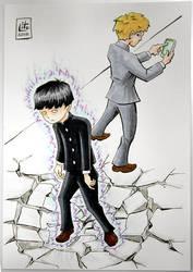 Commission Mob Psycho 100 by eleyeteaoh