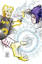 Commission Naruto vs Sasuke by eleyeteaoh