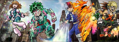 My Hero Academia by eleyeteaoh