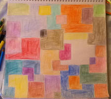 Colourful Squares Artwork by TotallyDeviantLisa