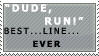 DUDE RUN Stamp by LoverofFiction