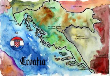 Croatia Map by Onyana