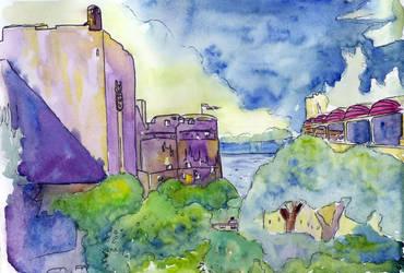 Dubrovnik Walls 2 of 2 by Onyana