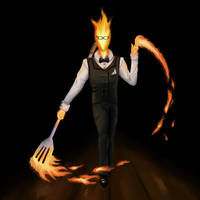 Grillby by Afantou
