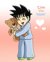 Gohan: Love You Teddy by dbzfannie