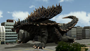 The Beast That Never Was: Heisei Anguirus! by FlowRellik