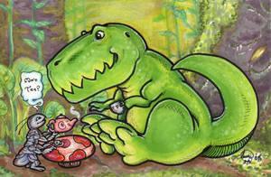 Wee Tea Rex by cheshiresphynx