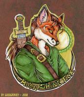 Moonshine Fox Badge by cheshiresphynx