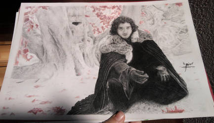 Jon Snow (not scaned) by croatian-artist-girl