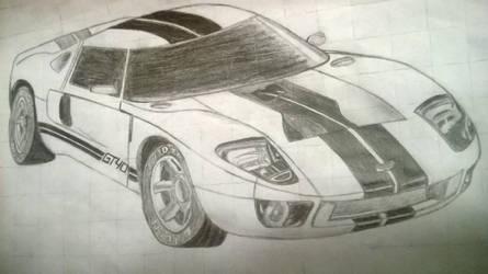 GT-40 Drawing by 3DPhantom