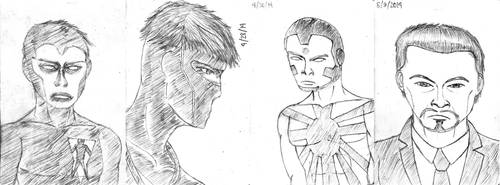 Notebook sketches - Valiant comics by guelpacq