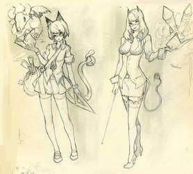 characters sketch by Readman