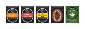 Burts 1990s bottle label set by HenryBeauchamp