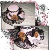 Faded Kiss Mini Top Hat by iReita