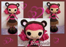 Teddy Honeypots Lalaloopsy crochet doll by annie-88