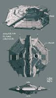 Hiigaran Flank Cruiser A by 4-X-S