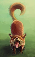 Yawning fox by Tyfflie