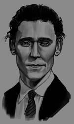 Portrait - Tom Hiddleston by Tyfflie