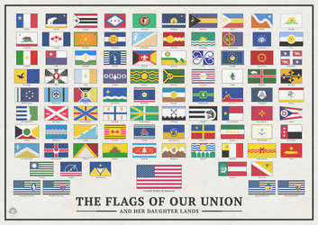 The Flags of Our Union, and Her Daughter Lands by Vexillographist
