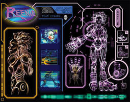 Reenie, Team Cyborg by concept-creature