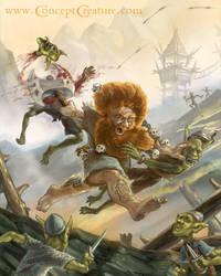 Svengaard, Mad Berserker Dwarf by concept-creature
