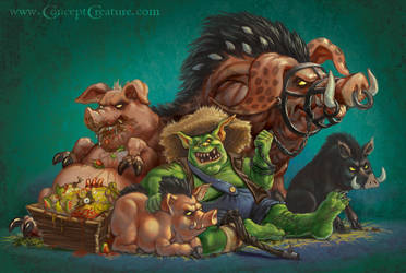 Ulix The Pig Master by concept-creature