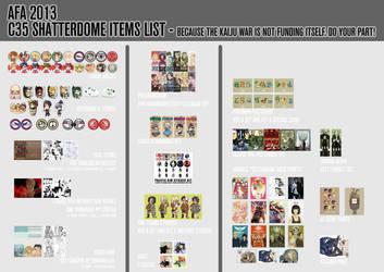 C35 Shatterdome AFA 2013 Catalogue by ivory-dusk