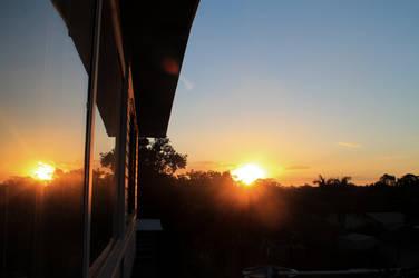 Sunset Reflection by darthblueash