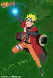 Naruto Uzumaki in Sage Mode by Davidyf