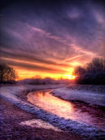 STOCK:Sunrise on frosty river by needanewname