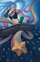 League of Legends Arcade Sona by SaintPrecious