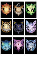 Pokemon Eeveelutions by SaintPrecious