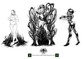 Venomgwen transformation commision by chamucaselamor69
