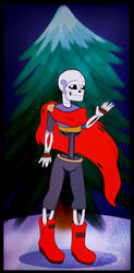 Redraw Papyrus Because I can draw him lol by ZarinaRoseYT
