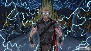 Thor Ragnarok by DarkGosp
