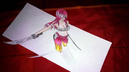 Erza Scarlet 3d art by SylentEcho88