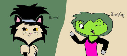Beast Boy and Hector by Ay6