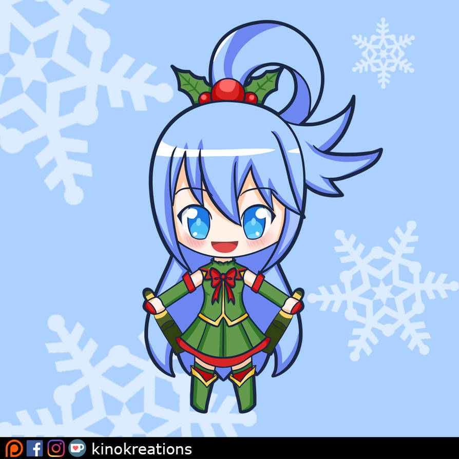 Holiday Goddess Aqua - Konosuba by kinokashi