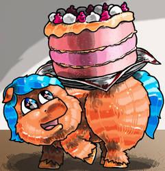 Fluffy e la torta by DAVIDE76