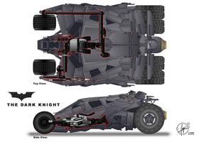 Batpod inside Tumbler by Paul-Muad-Dib
