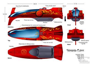 Submarine Samurai-Class by Paul-Muad-Dib
