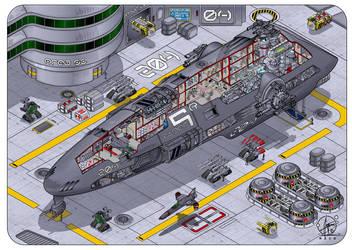 Spaceship  'Tiger-Class' by Paul-Muad-Dib