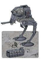 W.I.P. Star Wars At-ST by Paul-Muad-Dib