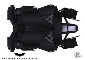 The Bat - Topview  - The Dark Knight rises by Paul-Muad-Dib