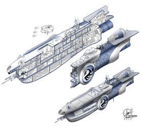 Spaceship MEGATAO by Paul-Muad-Dib