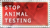 Stop Animal Testing Stamp by wiht