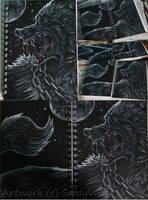 ConHon Design - Rage Wolf by SaidyWolf
