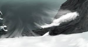 A Gusty Glacier Gorge by cheetahsintheearth